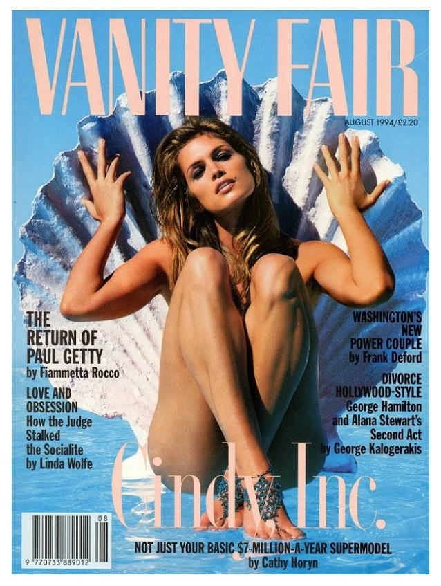 Cindy Crawford by Herb Ritts for VF Ago 1994
