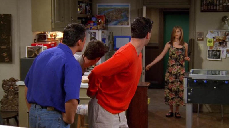 Rachel Green vestido flores Friends
