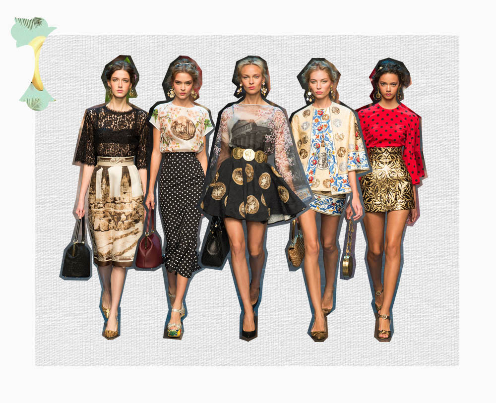 Dolce Gabbana estampados