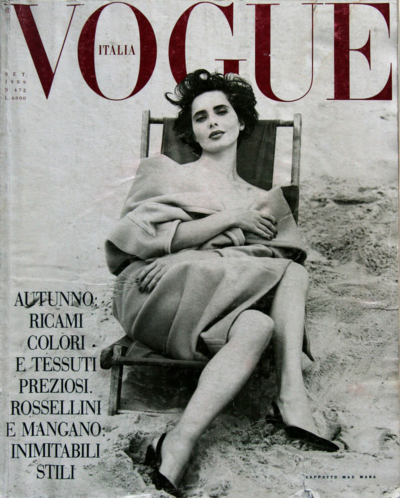 Isabella Rossellini for Vogue Italia Sept 1989