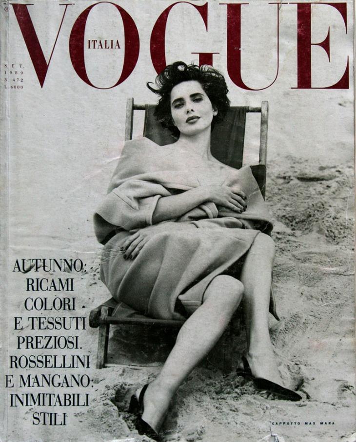 Isabella Rossellini for Vogue Italia Sept 1989