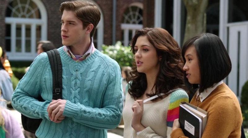Walt, Maggie y Mouse en The Carrie Diaries