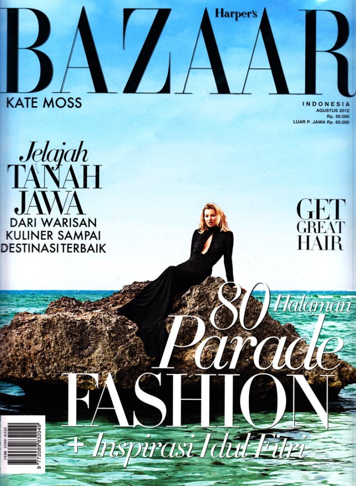 Kate Moss by Terry Richardson Harpers Bazaar Indonesia Aug 2012
