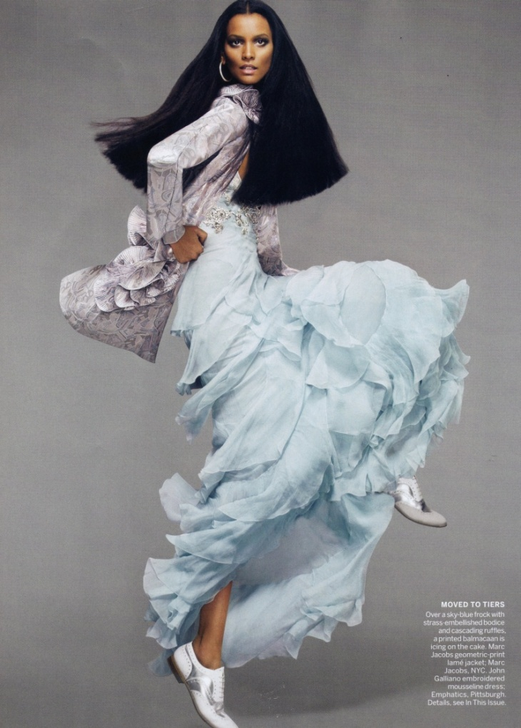 Liya Kebede by Mert+Marcus for Vogue US April 2010