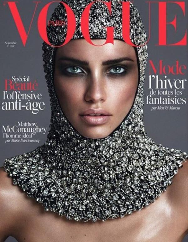 Adriana Lima by Mert+Marcus for Vogue Paris nov 2014