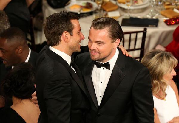 Bradley Cooper+Leo DiCaprio, Golden Globes, Enero 2014