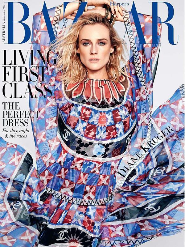 Diane Kruger Harpers Bazaar Australia November 2014