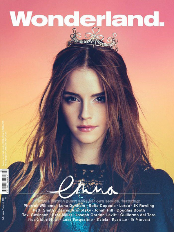 Emma Watson por Christian Oita para Wonderland Feb Mar 2014
