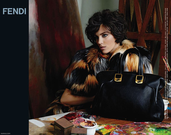 Anja Rubik by Karl Lagerfeld for Fendi Fall 2011 Campaign