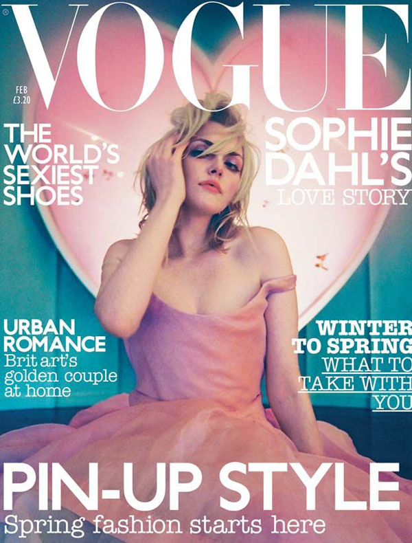 Sophie Dahl for Vogue UK Feb 2003
