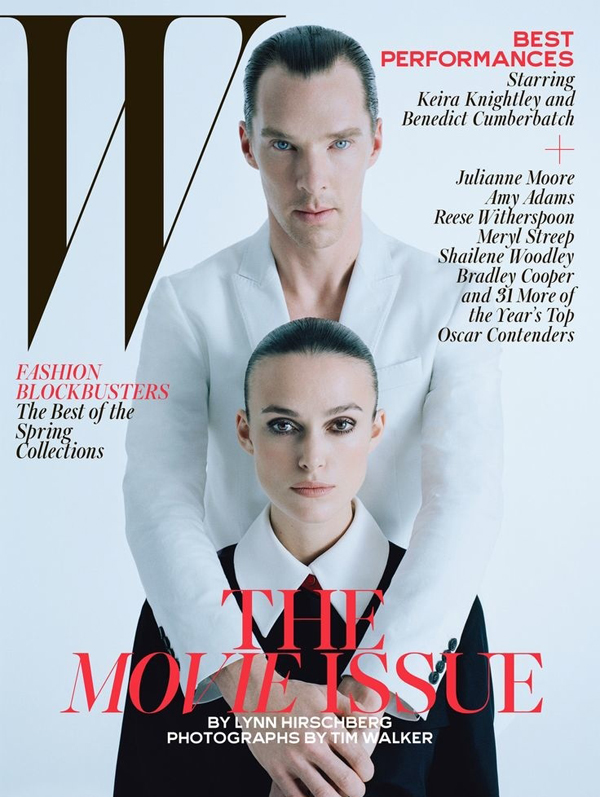 Benedict Cumberbatch and Keira Knightley for W Magazine February 2015