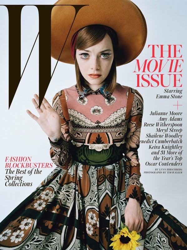 Emma Stone for W Magazine February 2015