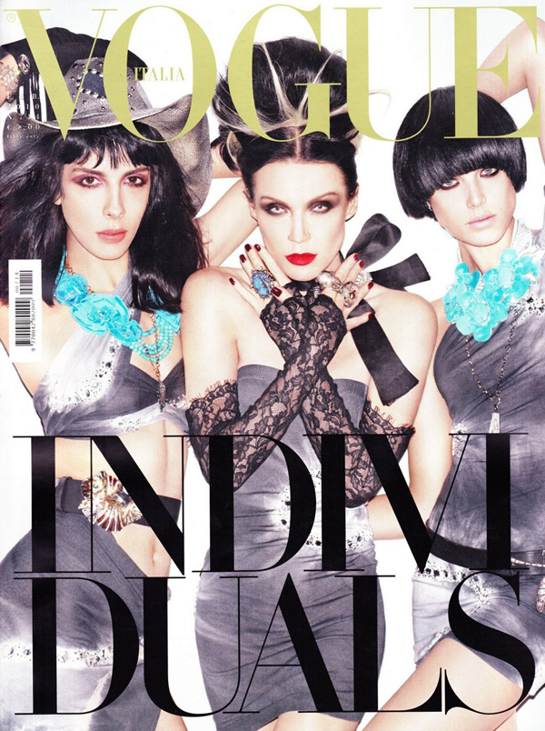 Daphne Guinness Jamie Bochert Agyness Deyn by Steven Meisel for Vogue Italia Feb 2010