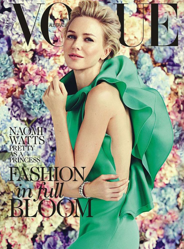 Naomi Watts by Will Davidson for Vogue Australia Feb 2013