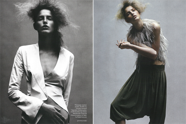 'Age of innocence' por Jan Welters para Elle UK Marzo 2009