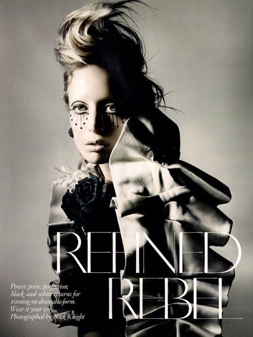 'Refined rebel' por Nick Knight
