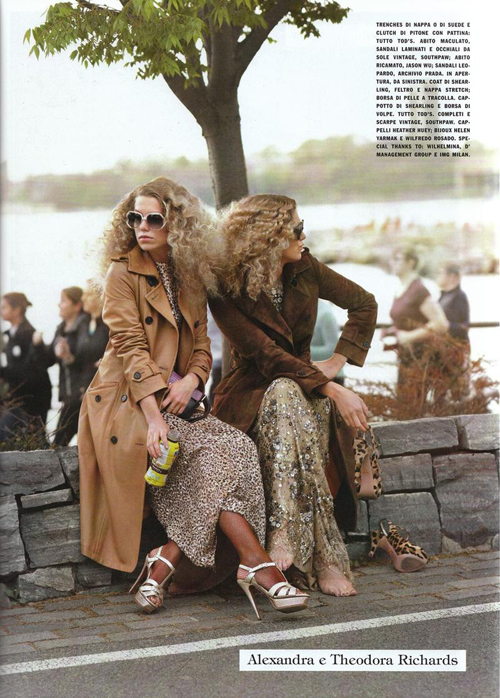 Alexandra+Theodora Richards por Scott Schuman para Vogue Italia Ago 2011