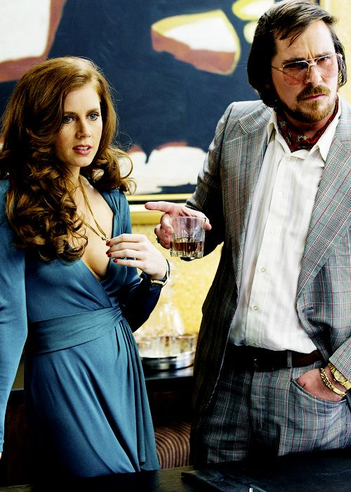 Amy Adams+Christian Bale en American Hustle