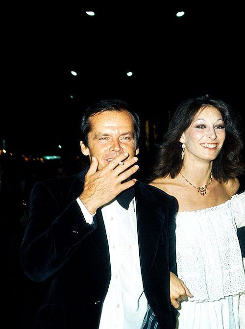 Anjelica Huston+Jack Nicholson at Cannes Festival, 1974