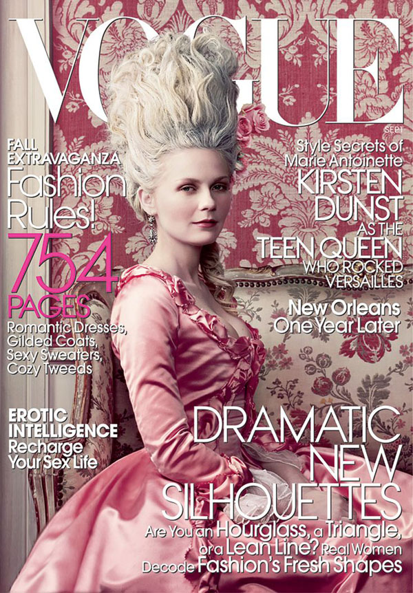 Kirsten Dunst by Annie Leibovitz for Vogue US September 2006