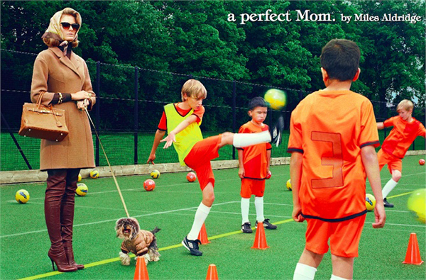 'A perfect mom' by Miles Aldridge