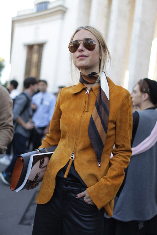 Fashion trends Spring 2015: Suede street style