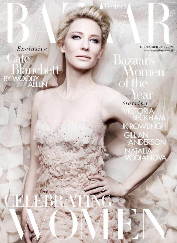 Cate Blanchett by Ben Hassett for HB UK Dec 2013