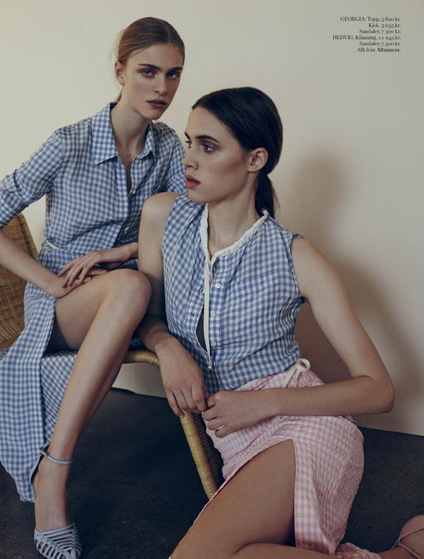 Georgia Hilmer+Hedvig Palm by Matthew Sprout