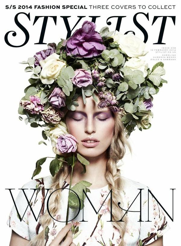 Karolina Kurkova by John-Paul Pietrus for Stylist Magazine Feb 2014