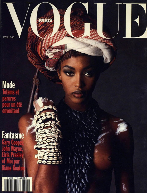 Naomi Campbell for Vogue Paris Abril 1991