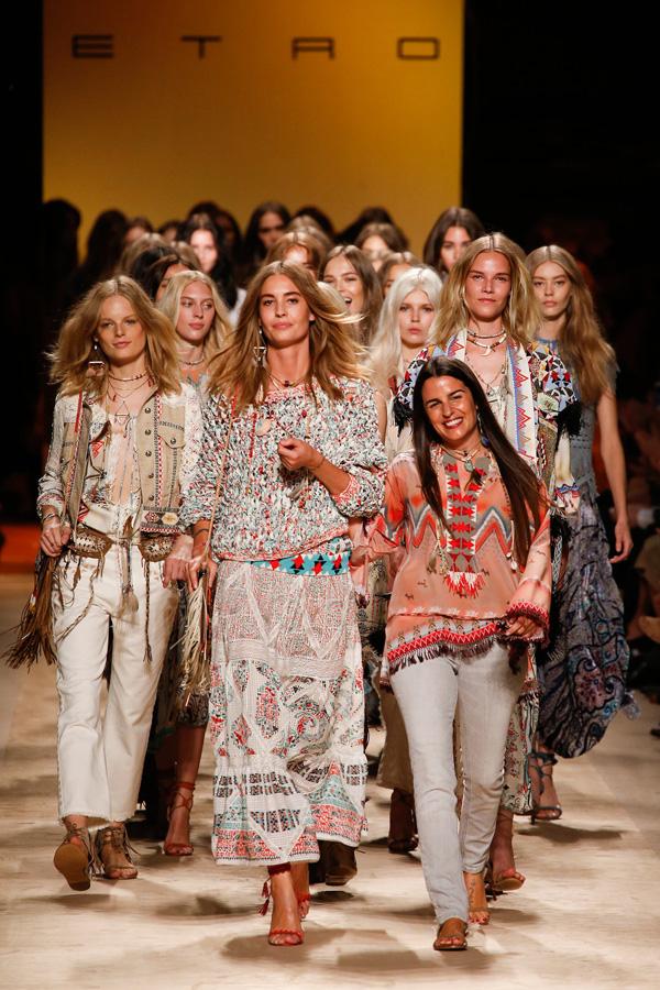 Etro Spring 2015 fashion show finale