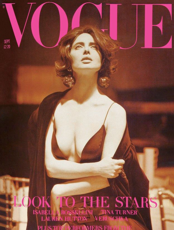 Isabella Rossellini for Vogue UK Sept 1989