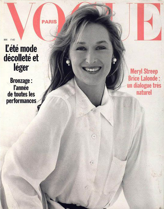 Meryl Streep by Brigitte Lacombe for Vogue Paris May 1989