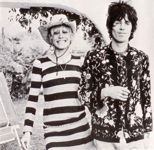 Anita Pallenberg+Keith Richards