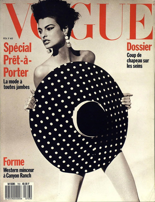 Linda Evangelista by Steven Meisel for Vogue Paris Feb 1990