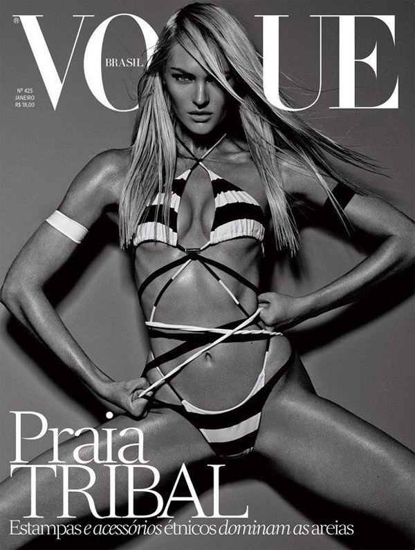 Candice Swanepoel by Mariano Vivanco for Vogue Brazil January 2014