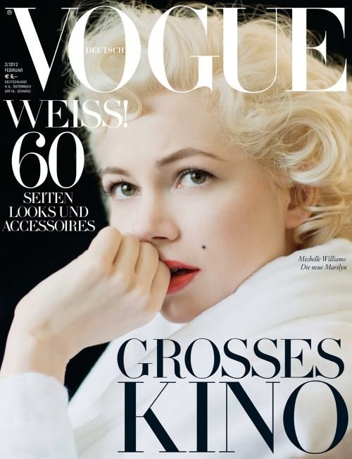 Michelle Williams by Brigitte Lacombe for Vogue Germany Feb 2012
