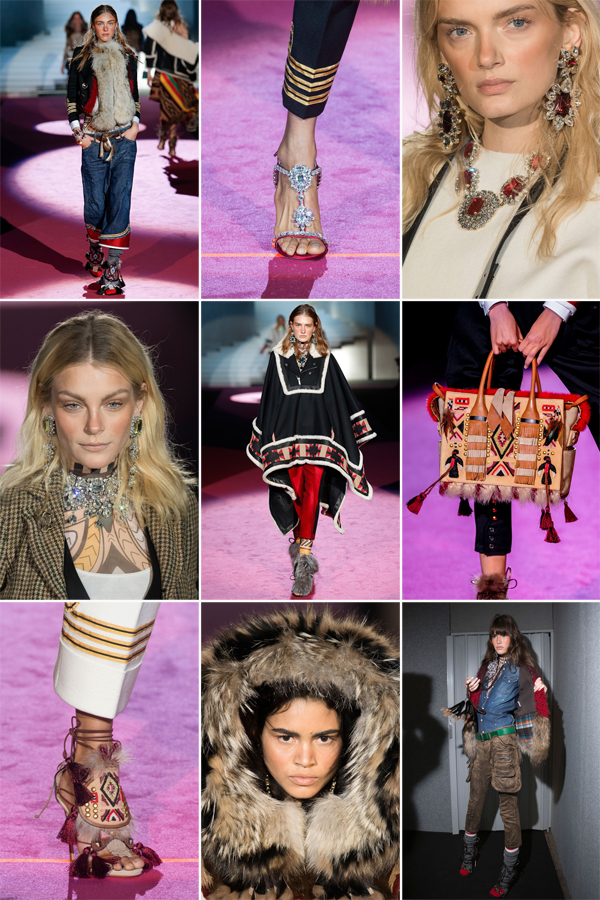 Collage detalles Dsquared² Fall 2015