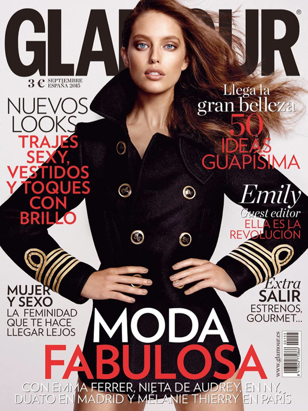 Emily DiDonato by Yu Tsai for Glamour Spain September 2015 Cover