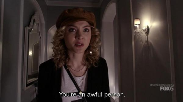 Skyler Samuels in Scream Queens Pilot