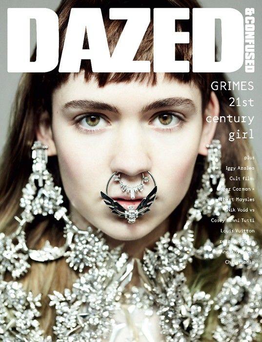 Grimes by Hedi Slimane for Dazed&Confused April 2012