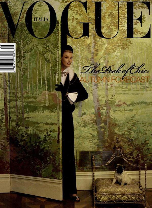 Linda Evangelista by Steven Meisel for Vogue Italia June 2008
