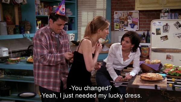 Rachel's lucky dress