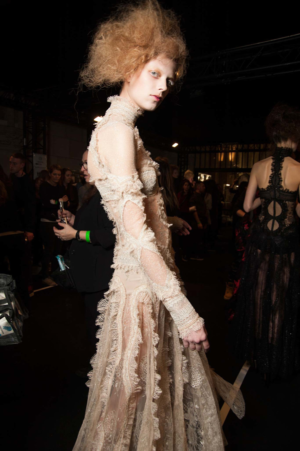 Alexander McQueen Fall 2015 Backstage