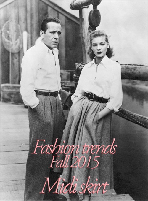 Fashion trends Fall 2015 Midi skirt