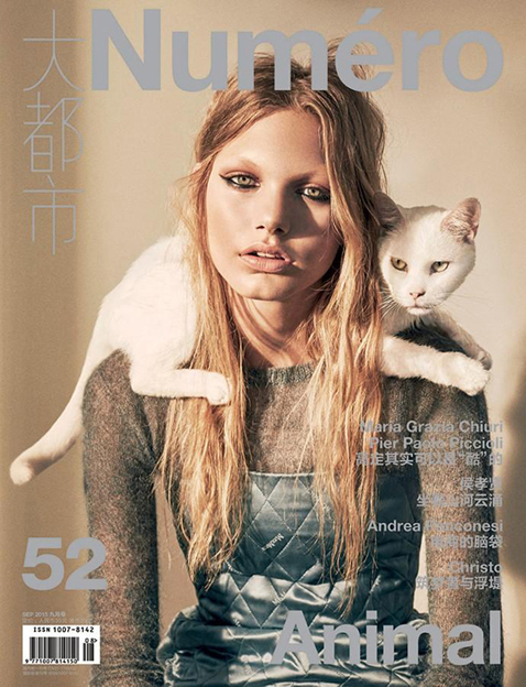 Annika Krijt by Laurie Bartley for Numéro China Sept 2015 Cover