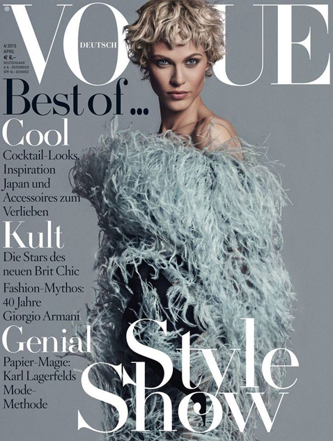 Aymeline Valade by Giampaolo Sgura for Vogue Germany April 2015 Cover