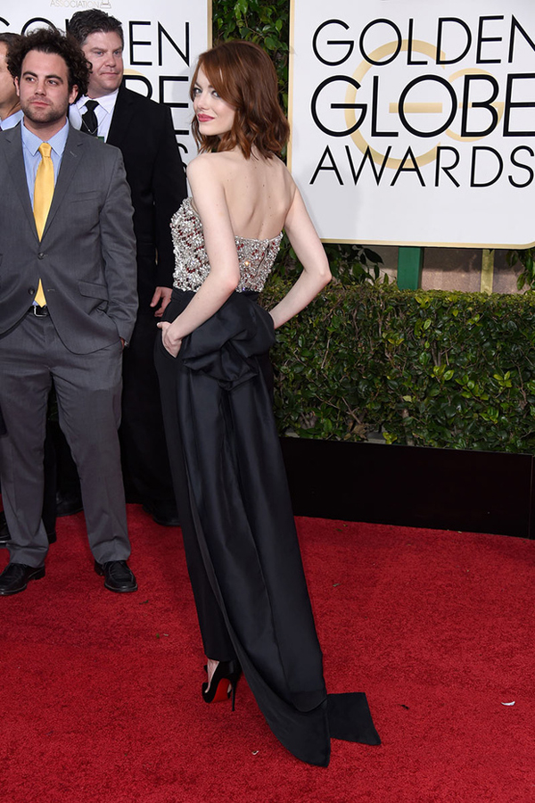 Emma Stone de Lanvin Golden Globes