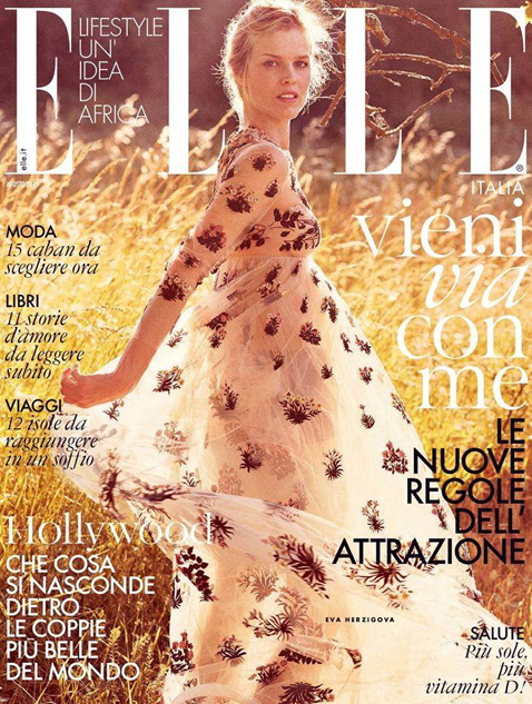 Eva Herzigova by David Burton for Elle Italia August 2015