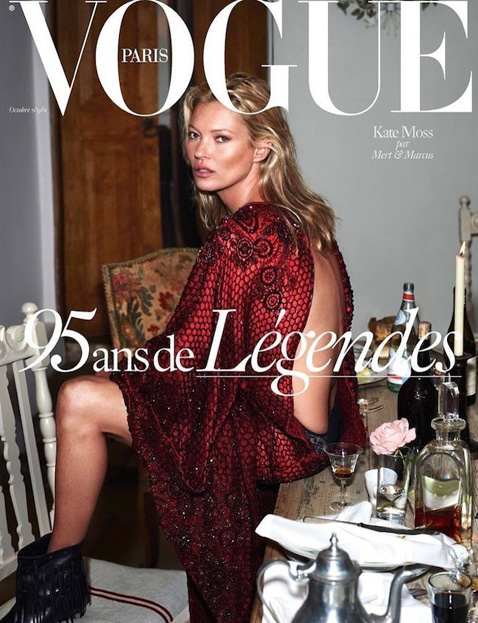 Kate Moss by Mert & Marcus for Vogue Paris October 2015 Cover